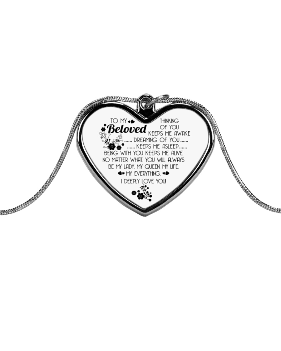TO MY BELOVED Metallic Heart Necklace