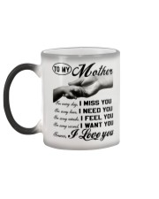 To my Mother - I love you Color Changing Mug color-changing-left