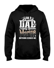 Proud Dad Of A Freaking Awesome Marine Funny shirt Hooded Sweatshirt thumbnail