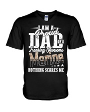 Proud Dad Of A Freaking Awesome Marine Funny shirt V-Neck T-Shirt thumbnail