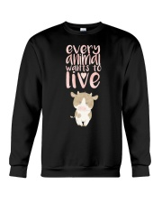 Every Animal Wants to Live Crewneck Sweatshirt tile