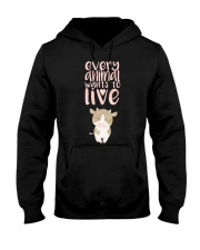 Every Animal Wants to Live Hooded Sweatshirt tile