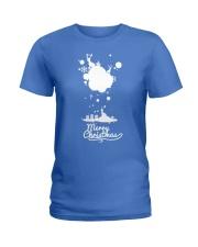 Merry Christmas on the sky - Christmas Gifts Ladies T-Shirt thumbnail