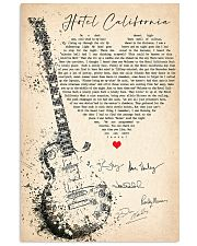 34gl3 - Hotel California 11x17 Poster front