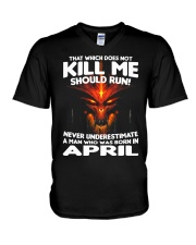 THAT WHICH DOES NOT KILL ME-APRIL V-Neck T-Shirt thumbnail
