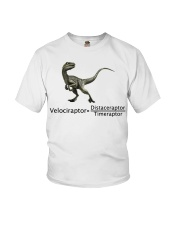 Velociraptor SCIENCE FAN Youth T-Shirt front