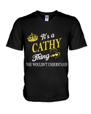 Cathy Thing Name Shirts V-Neck T-Shirt thumbnail