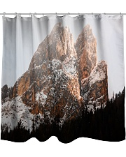 Mountain design Shower Curtain front