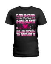 Cute Enough Nurse T-shirt  Ladies T-Shirt front