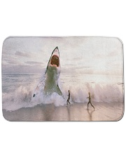"Shark attack Bath Mat - 24"" x 17"" thumbnail"