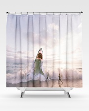 Shark attack Shower Curtain aos-shower-curtains-71x74-lifestyle-front-02