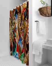 Gold dragon Shower Curtain aos-shower-curtains-71x74-lifestyle-front-03