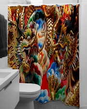 Gold dragon Shower Curtain aos-shower-curtains-71x74-lifestyle-front-04