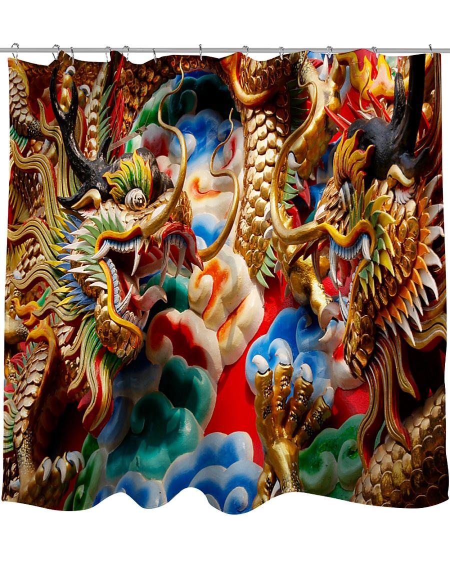 Gold dragon Shower Curtain