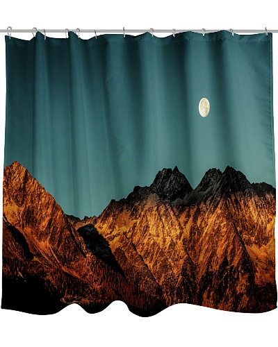 Mountain with a view of the moon