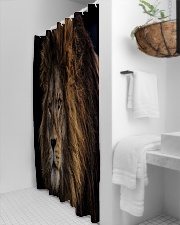 A Lion In The Dark Shower Curtain aos-shower-curtains-71x74-lifestyle-front-03
