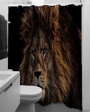 A Lion In The Dark Shower Curtain aos-shower-curtains-71x74-lifestyle-front-04