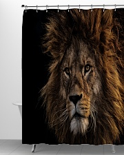 A Lion In The Dark Shower Curtain aos-shower-curtains-71x74-lifestyle-front-06