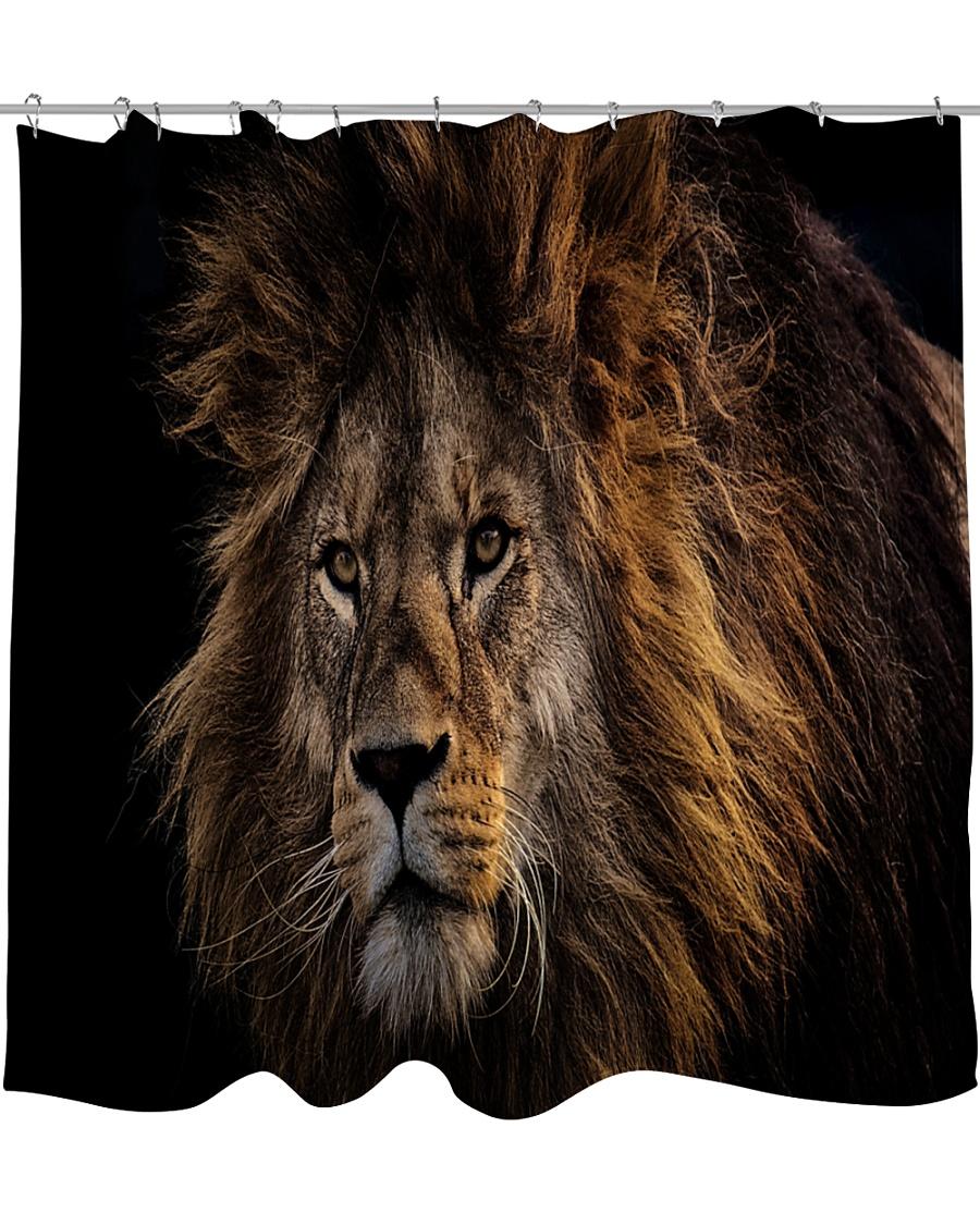 A Lion In The Dark Shower Curtain