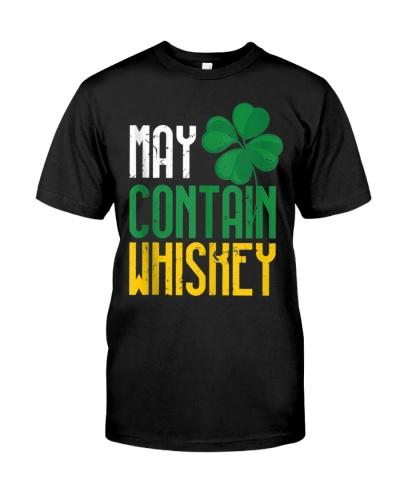 May Contain Whiskey Funny Irish St Patricks