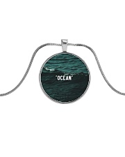 The Ocean Collection Metallic Circle Necklace front