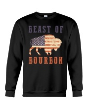 Beast of Bourbon American Flag Vintage Design Crewneck Sweatshirt tile