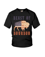 Beast of Bourbon American Flag Vintage Design Youth T-Shirt thumbnail
