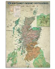 Scotland's Whisky Distilleries Map 11x17 Poster front