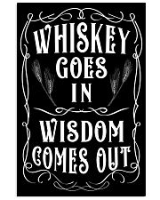 Whiskey goes in Wisdom comes out Vintage Design 11x17 Poster thumbnail