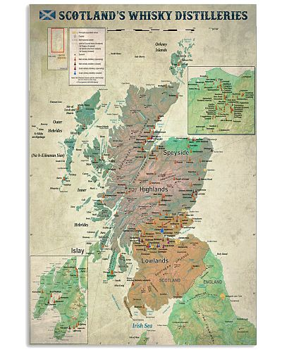 Scotland's Whisky Distilleries Map