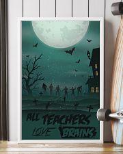 All Teachers Love Brains Halloween 11x17 Poster lifestyle-poster-4