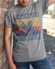 Everything Will Kill You Bull Riding Classic T-Shirt apparel-classic-tshirt-lifestyle-27