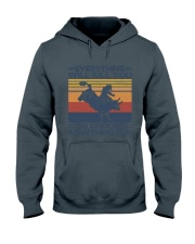 Everything Will Kill You Bull Riding Hooded Sweatshirt tile