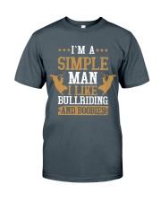 Simple Man I Like Bull Riding And Boobies Classic T-Shirt tile