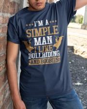 Simple Man I Like Bull Riding And Boobies Classic T-Shirt apparel-classic-tshirt-lifestyle-27