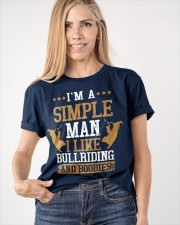 Simple Man I Like Bull Riding And Boobies Classic T-Shirt apparel-classic-tshirt-lifestyle-front-100