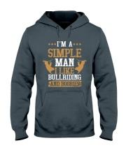 Simple Man I Like Bull Riding And Boobies Hooded Sweatshirt tile