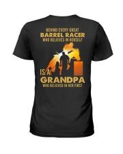 Behind Every Barrel Racer Is Grandpa Barrel Racin Ladies T-Shirt tile