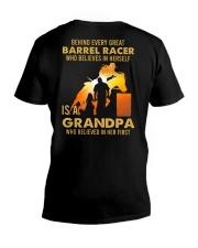 Behind Every Barrel Racer Is Grandpa Barrel Racin V-Neck T-Shirt tile
