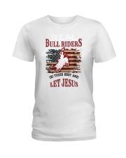 Real Bull Riders Bull Riding Ladies T-Shirt tile