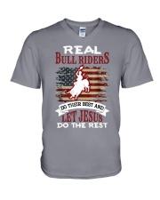 Real Bull Riders Bull Riding V-Neck T-Shirt tile