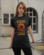 A Witch Who Loves Horses And Was Born In October Classic T-Shirt apparel-classic-tshirt-lifestyle-19