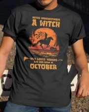 A Witch Who Loves Horses And Was Born In October Classic T-Shirt apparel-classic-tshirt-lifestyle-28