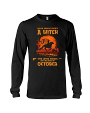 A Witch Who Loves Horses And Was Born In October Long Sleeve Tee tile