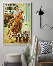 Yoy Don't Stop Riding When You Get Old 24x36 Poster lifestyle-poster-1