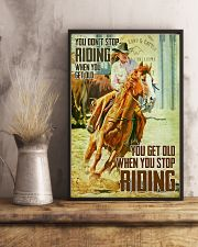 Yoy Don't Stop Riding When You Get Old 24x36 Poster lifestyle-poster-3
