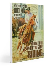 Yoy Don't Stop Riding When You Get Old Gallery Wrapped Canvas Prints tile