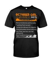 October Girl Halloween Classic T-Shirt front