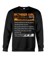 October Girl Halloween Crewneck Sweatshirt tile