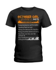 October Girl Halloween Ladies T-Shirt tile
